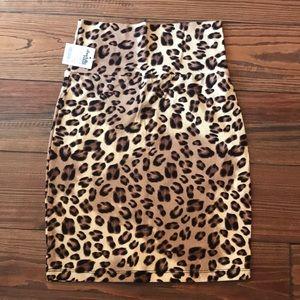 XS pencil cheetah skirt Charlotte Russe